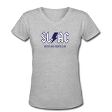 SLAC Women's V-Neck T-Shirt - gray