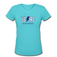 SLAC Women's V-Neck T-Shirt - aqua