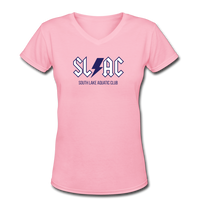 SLAC Women's V-Neck T-Shirt - pink