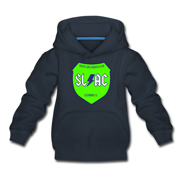 SLAC sheild youth Hoody - navy