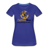 Catchies Mom Golden Globe Tee - royal blue
