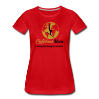Catchies Mom Golden Globe Tee - red