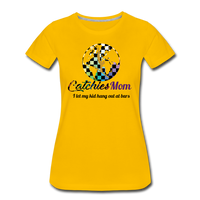 Catchies Mom Alley Globe Tee - sun yellow