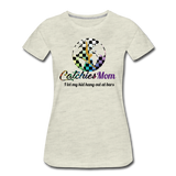 Catchies Mom Alley Globe Tee - heather oatmeal
