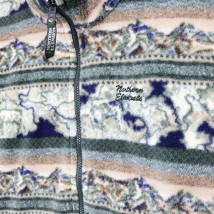 Vintage Printed Fleece Vest - L/XL-NEWLIFE Clothing