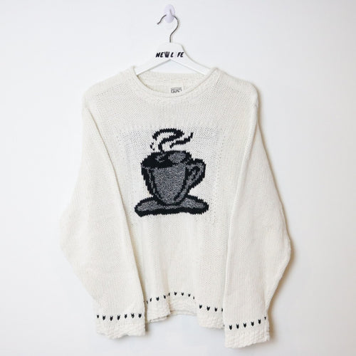 Vintage Coffee Knit Sweater