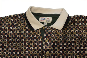 Patterned Polo Shirt-NEWLIFE Clothing