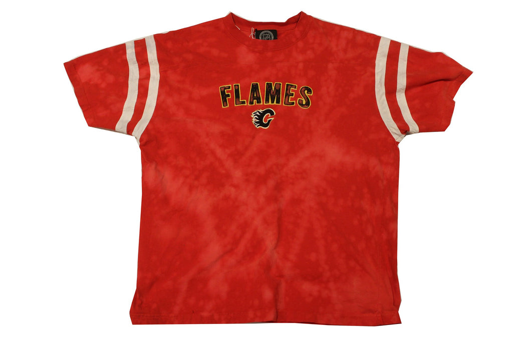 Vintage Reworked Bleach Calgary Flames Shirt