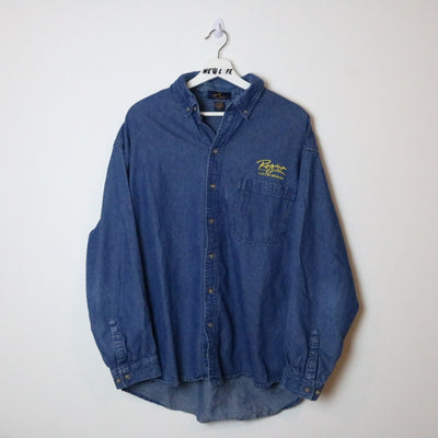 City of Regina Denim Button Up - L-NEWLIFE Clothing