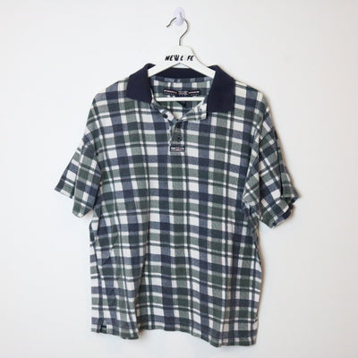 Vintage Patterned Polo Shirt - L-NEWLIFE Clothing
