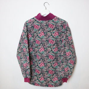 Floral Patterned Sweater - M-NEWLIFE Clothing