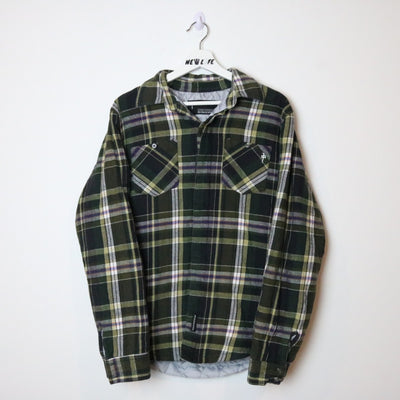 Red Dragon Quilted Flannel Shirt - M/L-NEWLIFE Clothing