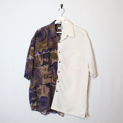 vintage cut and sew button up