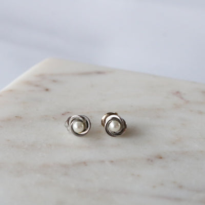 Vintage Pearl Stud Earrings