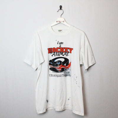 Vintage 90's Hockey Animal Tee - XL-NEWLIFE Clothing