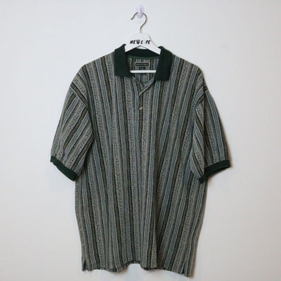 Vintage patterned polo shirt