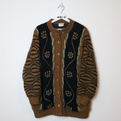 Vintage knit button up sweater
