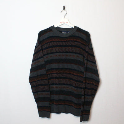 Vintage Patterned Knit Sweater - M-NEWLIFE Clothing