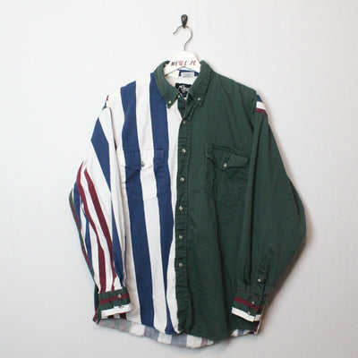 Vintage Western Striped Button Up - L-NEWLIFE Clothing