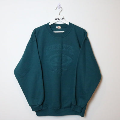 Vintage Embossed Curling Crewneck - L-NEWLIFE Clothing