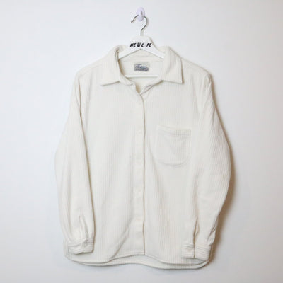 vintage fleece button up