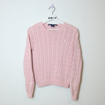 Vintage Ralph Lauren Cable Knit Sweater - XS/S-NEWLIFE Clothing