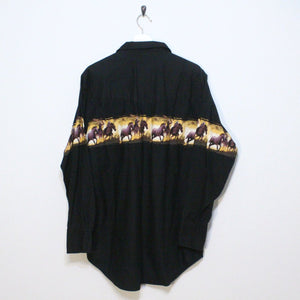 Western Horse Button Up