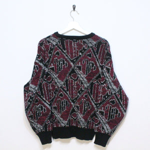 90's Patterned Sweater-NEWLIFE Clothing