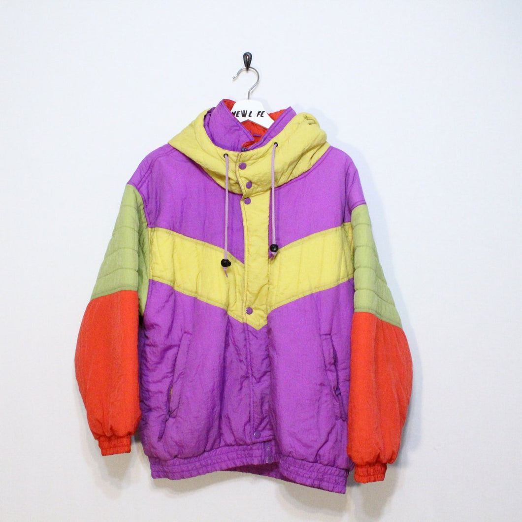 Vintage Colorful Puffer Jacket
