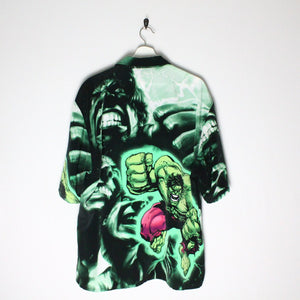 Hulk Print Button Up - XL