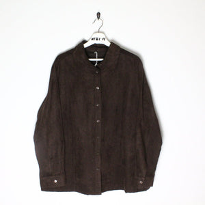 Suede Button up