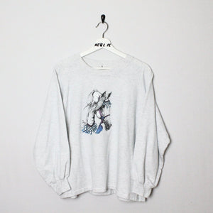 Vintage Horse Print Sweater