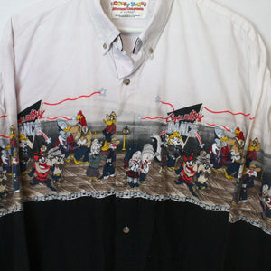 94' Looney Tunes Western Print Button Up
