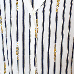 Chain Print Button Up - 8-NEWLIFE Clothing