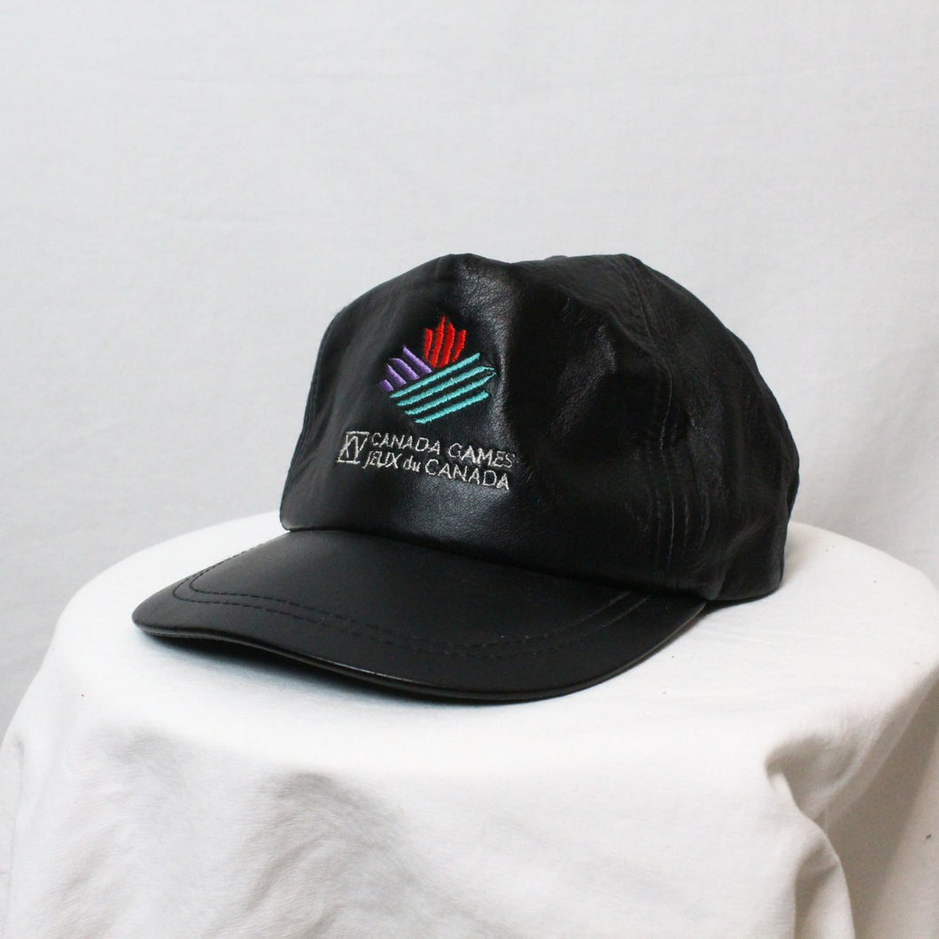 1995 Canada Games Leather Hat-NEWLIFE Clothing