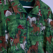 Load image into Gallery viewer, Horse Print Zip Up Jacket - M/L