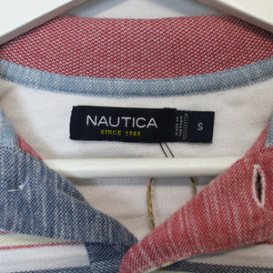 Reworked Nautica Cropped Polo Shirt - S-NEWLIFE Clothing