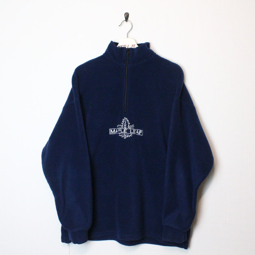 Vintage 90's Toronto Maple Leafs Fleece Jacket - L-NEWLIFE Clothing