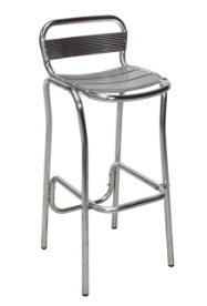 Aluminium Stool Chrome Stool