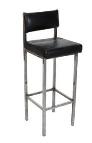 Bar Stool with Back Black Stool