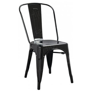 Black Tolix Style Stacking Chair