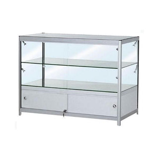 Double Tier Low Showcase With Cabinet Showcase Rentuu