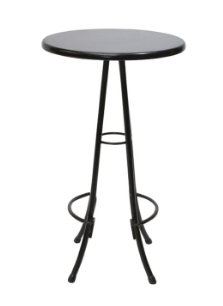 Florentina Poseur Table Black Frame Black Table