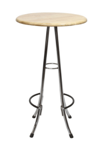 Florentina Poseur Table Chrome Frame Natural Table