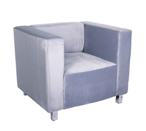 Kubus Fabric Armchair Grey Armchair