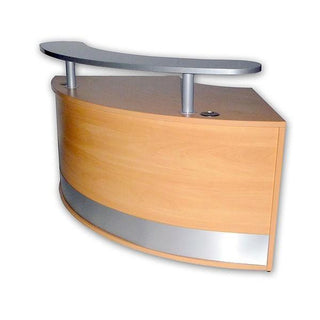 Reception Curved Unit c/w Shelf Reception Unit Rentuu