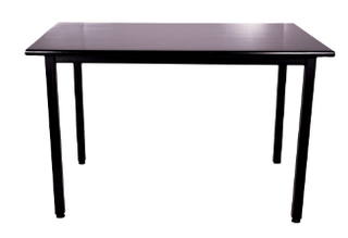 Rectangular Task Table Black Table