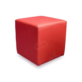 Red Cube Seat Chair