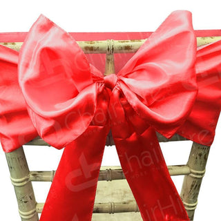 Satin Chair Bow - Red Bow