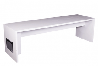 Vision Bench with Charging Ports Table